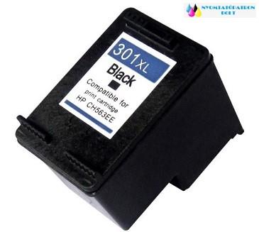 HP 301XLBK (CH563EE) utángyártott tintapatron V2 ÚJ CHIPPEL fekete