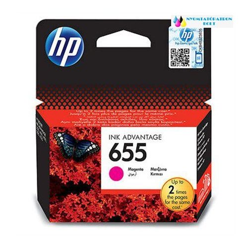 HP 655  CZ111AE magenta eredeti tintapatron