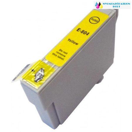 EPSON T0804 Yellow utángyártott tintapatron