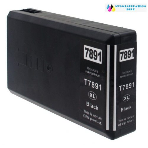 Epson T7891 utángyártott tintapatron fekete