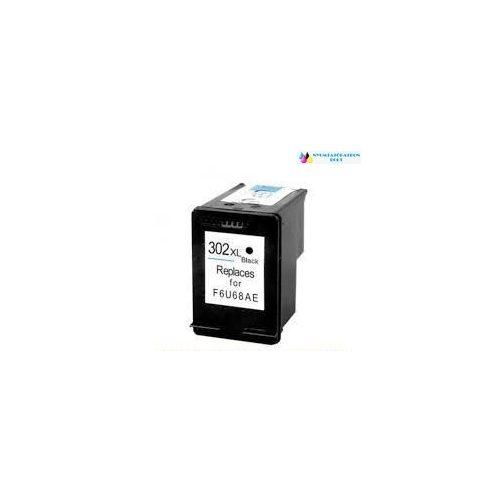 HP 302XL Bk (F6U68AE) utángyártott tintapatron fekete