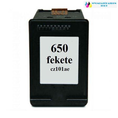 HP 650 CZ101AE utángyártott tintapatron magyar fekete