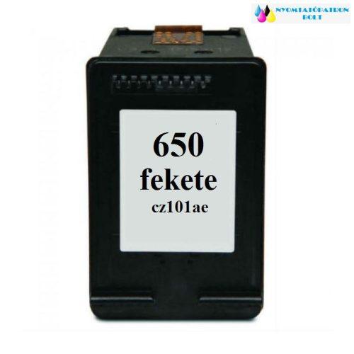 HP 650 CZ101AE utángyártott tintapatron fekete