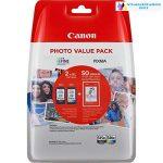 Canon PG-545XL/CL-546XL eredeti tintapatron fekete/színes multipack + 50 lap fotópapír