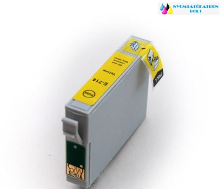 Epson T0714/894 sárga utángyártott tintapatron v6.0 chipes