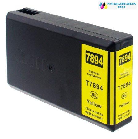 Epson T7894 utángyártott tintapatron sárga