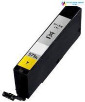 Canon CLI-571Y XL utángyártott sárga tintapatron chipes