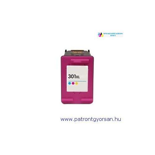 HP 301XL Color V2 (CH564EE) színes utángyártott tintapatron