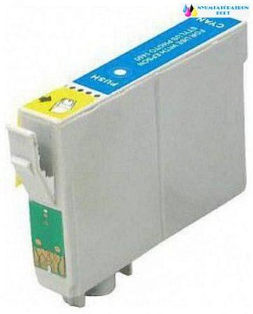 EPSON T0802 Cyán utángyártott tintapatron