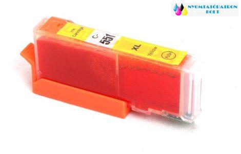 Canon CLI-551Y XL sárga utángyártott chipes tintapatron