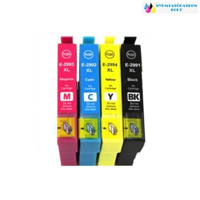 Epson T2995 T2996 29XL Bk C M Y utángyártott tintapatron csomag