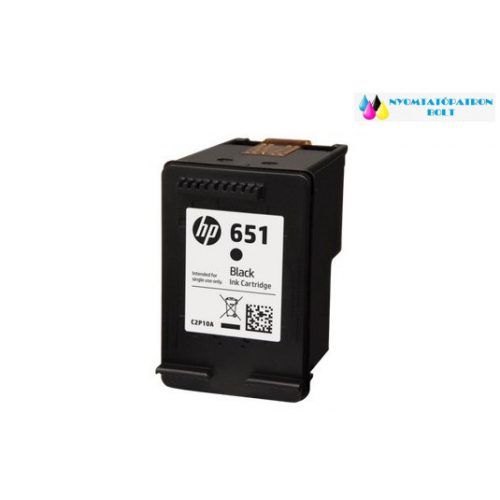 HP 651 (C2P10AE) utángyártott tintapatron fekete