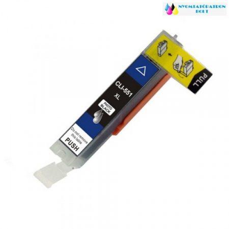 Canon PGI-551Bk XL fekete utángyártott chipes tintapatron