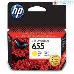 HP 655 CZ112AE yellow eredeti tintapatron