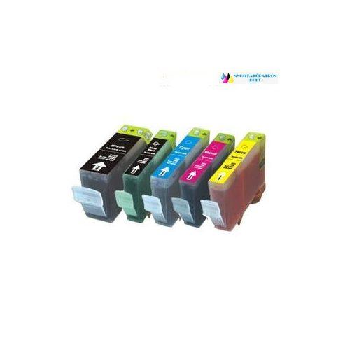 Canon PGI-5BK +CLI-8 utángyártott tintapatron pack (5 db patron ) chipes